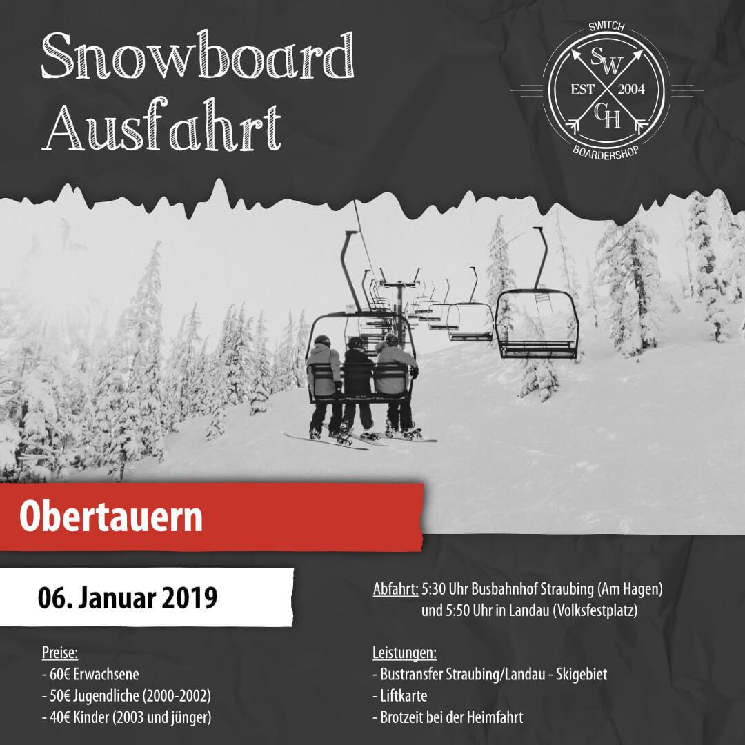 Snowboard-Ausfahrt Obertauern
