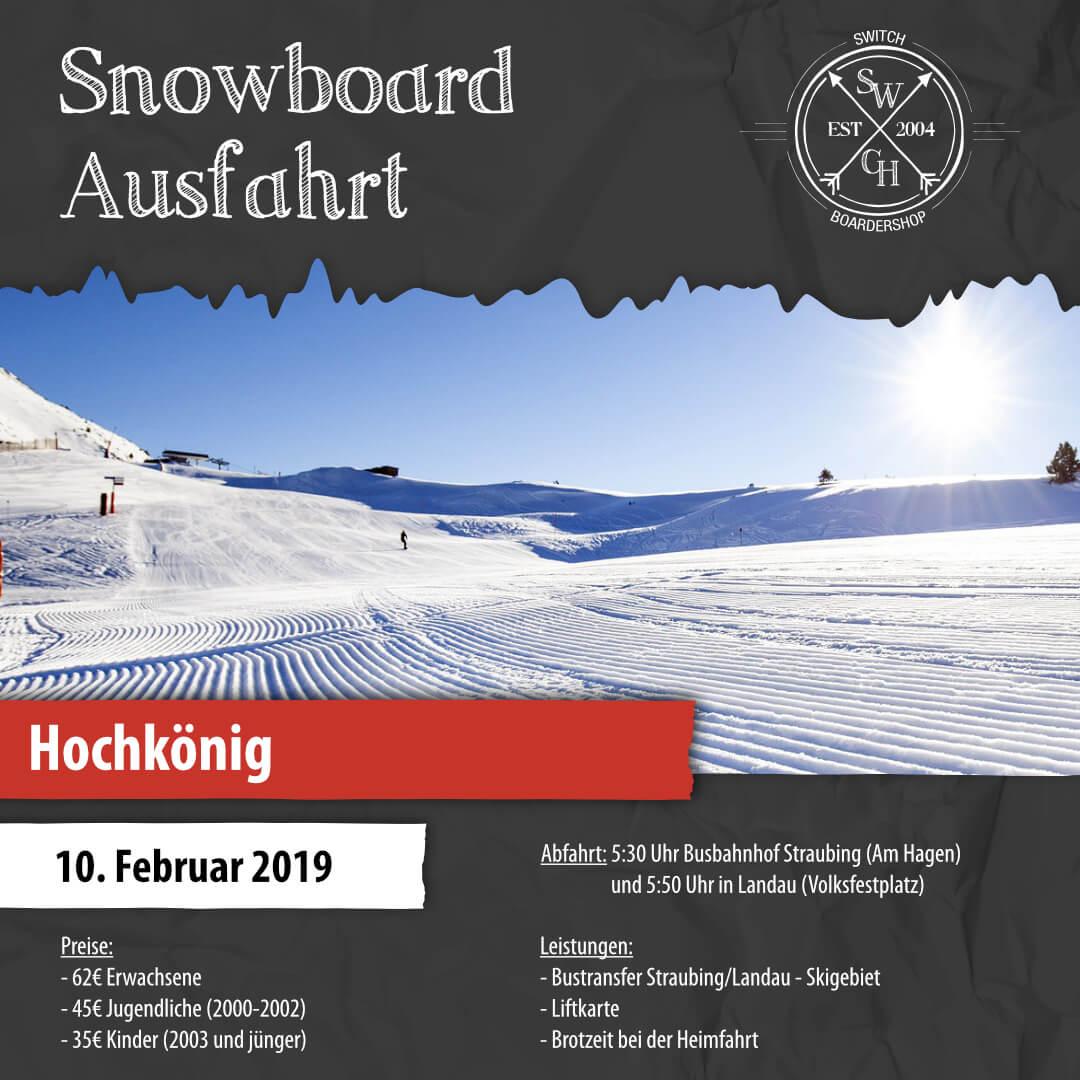 Snowboard-Ausfahrt Hochkönig
