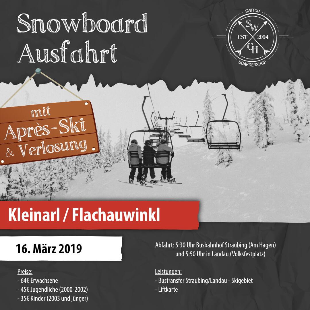 Snowboard-Ausfahrt Kleinarl mit Apres-Ski
